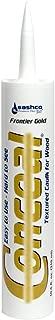 Sashco 46080 Conceal Textured Wood Caulking, 10.5 oz. Cartridge, Frontier Gold