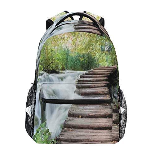 DISLONLY Rucksack Sporttasche Freizeittasche,Naturstrom im grünen Dschungel-Druck