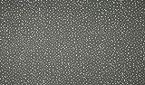 Jersey Stoff mit weißen Punkten auf Grau als Meterware zum