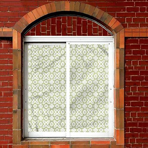 wwwhsl Glass Sticker,Celtic Nostalgic Motifs Celtic Stained Glass Window Film,Anti-UV Glass Film,W24xL36 inch