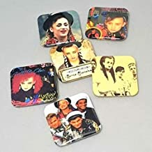 Culture Club Albums Boy George Artwork Karma Chameleon LGBTQ Buttons Gay Boyfriend Birthday Backpack Pins 80's Band Jewelry