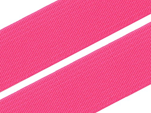 Gummiband 20 mm Gummizug Gummilitze Gummi Hosengummi gewebt viele Farben (20 Millimeter, 18 pink)