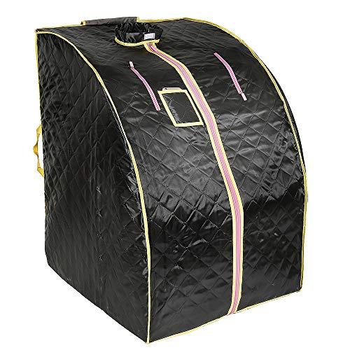 Infrarot- und tragbare Sauna | Home Spa für eine Person | Ideal zur Entgiftung und Gewichtsabnahme 70 cm x 80 cm x 98 cm (Schwarz)