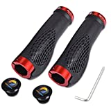 TOPCABIN Ergonomic Design Bicycle Handlebar Grips Widen Holding Surface (Red)