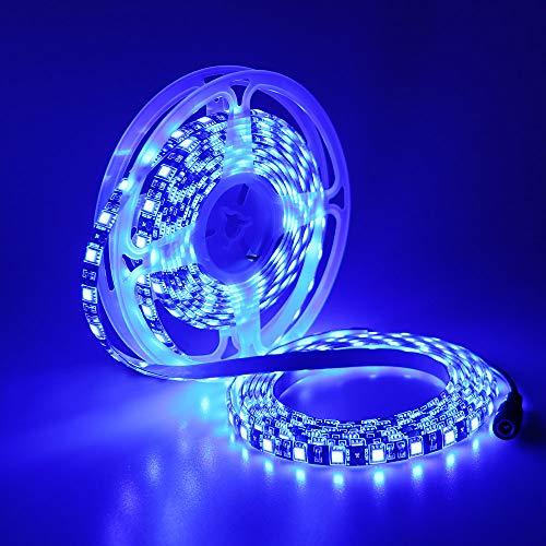 YUNBO LED-Streifen Blau, Schwarz PCB 12V SMD 5050 300 LEDs 5M Flexible IP65 Wasserdichter schneidbarer LED-Streifen für die Küche im Schlafzimmer zu Hause