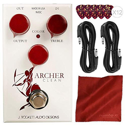 J. Rockett Audio Designs Tour Series Archer Clean Boost Guitar Effects Pedal + Basic Accessory Bundle