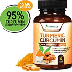 ✔️ HIGHEST POTENCY TURMERIC WITH BIOPERINE: Our premium T3 Turmeric Curcumin Complex 1950mg, with standardized 95% Curcuminoids and 15mg Bioperine (Black Pepper) for best absorption. ✔️ QUALITY INGREDIENTS: Turmeric is arguably one of the most powerf...