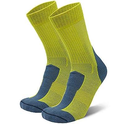 Merino Wool Light Hiking Socks (Yellow/Flint Grey, US Women 11-13 // US Men 9.5-12.5)
