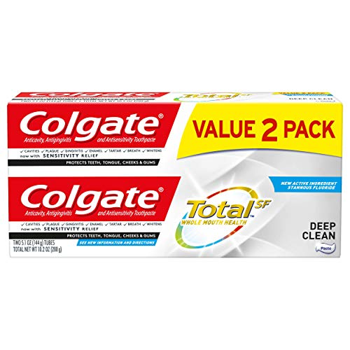 Colgate Total Toothpaste, Deep Clean - 5.1 ounce (2 Pack)