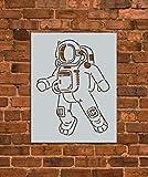 Astronaut Space Stencil Template - Reusable Stencil - INNOVO Stencils