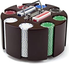 Brybelly Poker Chip Set in Wooden Carousel Case, 11.5gm