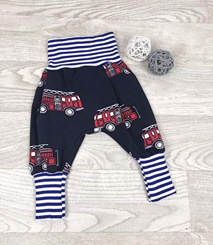 Pumphose Jersey haremshose Gr. 56-110, hose mädchen junge, Blau Feuerwehr, Babyhose, Kinderhose