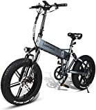 RDJM Bici electrica Bicicleta eléctrica 500W de 20 Pulgadas de luz eléctrica Plegable de Aluminio de la Bicicleta de la aleación 48V10AH Motor Velocidad máxima: 35 km/H, Universal for los Hombres y