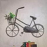LIN HE SHOP Vintage Bicicleta Pared Colgante Antiguo Adorno de Bicicleta 100 * 10 * 70 cm para Comedor Sala de Estar, cafetería, Bar de vinos, casa Club