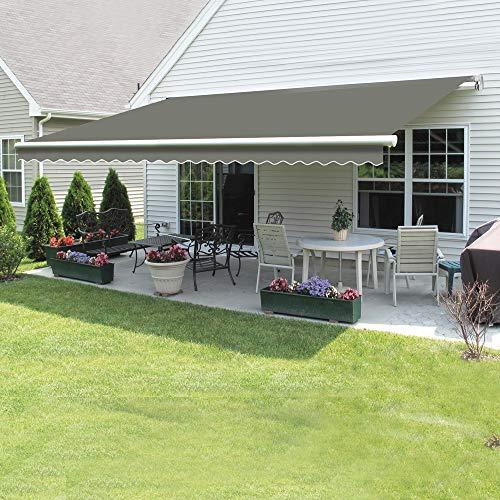 Greenbay 4 m x 3m DIY Patio Retractable Manual Awning Garden Sun Shade Canopy...