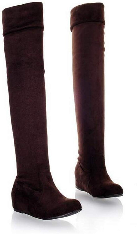 T-JULY Women Leopard Grain Knight Boots Winter Fashion Comfortable Flat Boots
