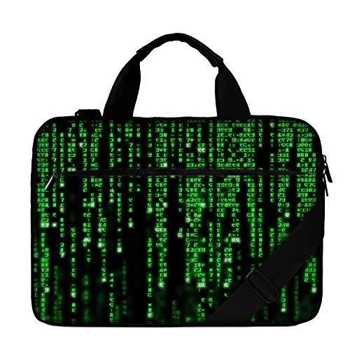 Luxburg Design 15.6 Inch Padded Business Laptop Bag, Multifunctional Shoulder Bag, Pattern: Matrix Code