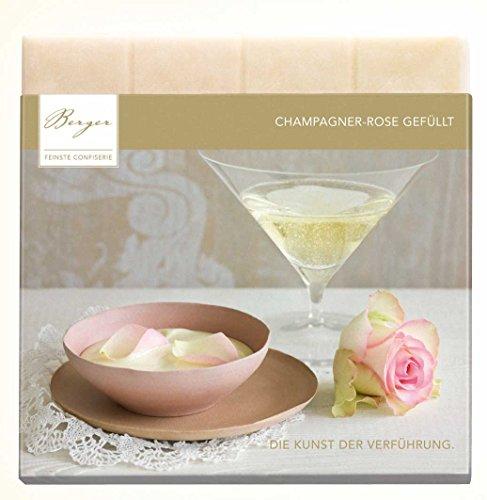Berger Schokolade Champagner-Rose gefüllt 100 g