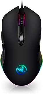 ANEWKODI Gaming Mouse Wired, 6 Programmable Buttons,RGB Light Mode,4800 Adjustable DPI,Optical PC Gaming Mouse,Comfortable Grip Ergonomic Gaming Mice