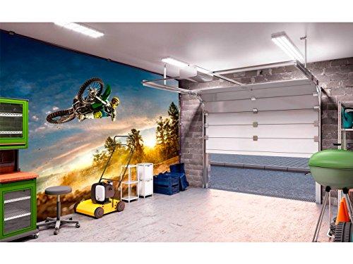 Fotomural Vinilo para Pared Motocross | Fotomural para Paredes | Mural | Vinilo Decorativo | Varias Medidas 200 x 150 cm | Decoración comedores, Salones, Habitaciones.