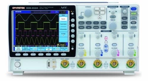"""GW Instek GDS-3504 - Osciloscopio de almacenamiento digital (pantalla LCD a color de 8"""", puerto USB, ancho de banda de 500 MHz, 4 canales, tiempo de subida 700 ps)"""