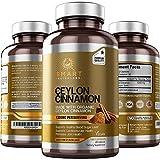 Ceylon Cinnamon (Made with Organic Ceylon Cinnamon) 1200mg per Serving, 180 Capsules - Supports Healthy Blood Sugar, Cardiovascular & Joint Health - 100% Pure, True Sri Lanka Cinnamon