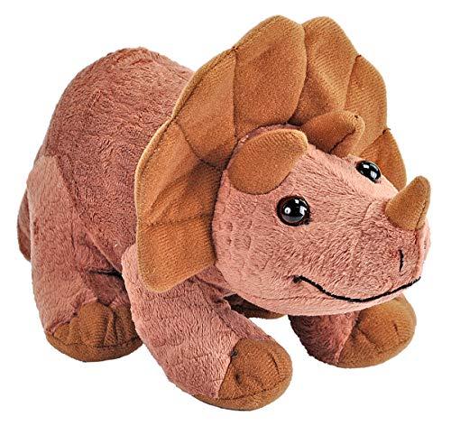 Wild Republic 22238 Bebé Peluches Plüschtier Baby Dino Triceratops Kuscheltier, Dinosaurier Stofftier 25 cm, Multi