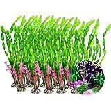 Set De Plantas De Acuario 10 Pcs Plantas Acuáticas para Acuarios Planta Artificial Plantas De Plastico Decoración Pecera Plantas Falsas para Negocios De Jardinería En Casa De Acuarios