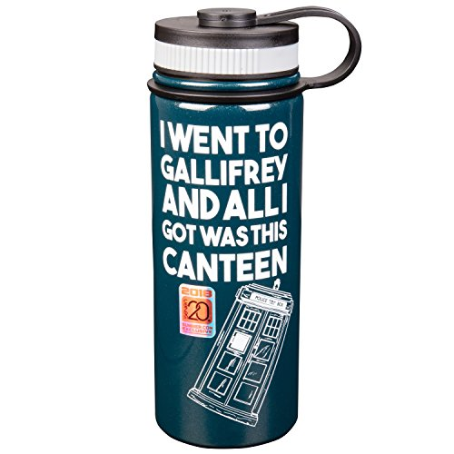 Doctor Who Stainless Steel 18 oz Water Bottle - Comic Con Exclusive - I Went To Gallifrey And All I Got Was This Canteen - Vacuum Insulated