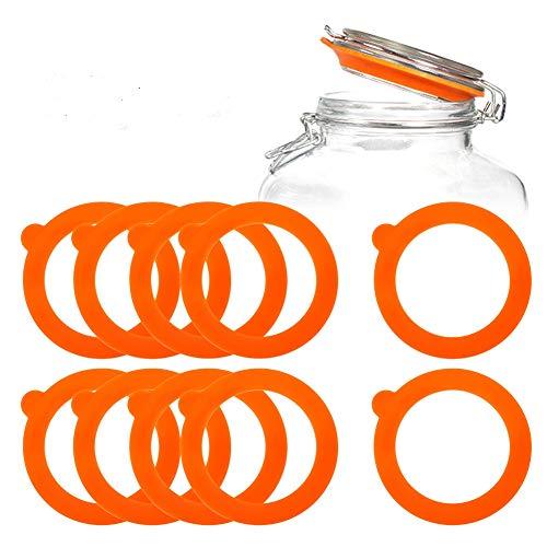 tiopeia 20 Stück Silikon Einkochringe, Dichtungen Ersatz Einmachgläser, Ersatz Einmachringe für Glas Klammer Deckel, Einkochen Zubehör, 97mm*70mm