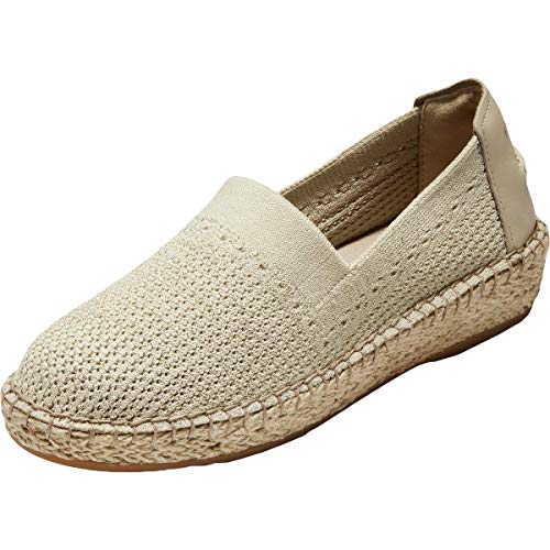 Cole Haan Women's Cloudfeel Stitchlite Espadrille Loafer Flat, Hawthorn/Ch Gold Metallic...