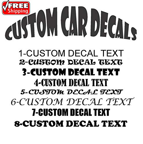 2X CAR STICKER DECAL CUSTOM TEXT 280MM X 90MM BEST QUALITY VINYL