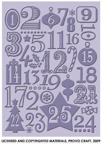 Provo Craft Cuttlebug 5-Inch by 7-Inch Embossing Folder, Christmas Countdown