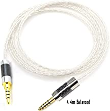 Haldaneaudio Hi-End 4.4mm Balanced 8cores Silver Plated Headphone Upgrade Cable for Fostex T60RP T20RP T40RPmkII T50RP (1.2m)