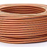 5M Meter Textilkabel Textilummanteltes Kunststoffleitung Stoffkabel Stromkabel / 3-adrig 3x0,75mm² mit Erdleiter, Lampezubehör (5m, braun)