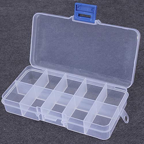 OriGlam Fishing Tackle Box Organizer, Fish Tackle Storage Plastic Box Kit with Adjustable Dividers, Tackle Organizer Boxes for Fishing Lures