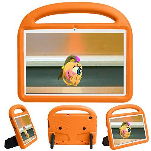 QYiD Funda Infantil para Fire 7 Tablet (7'pulgadas 2017 7th Generation, 2015 5th Generation), funda protectora a prueba de golpes con mango ligero, carcasa para niño para Fire 7.0' 2015/2017, Naranja