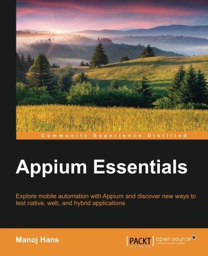 Appium Essentials by Manoj Hans(2015-02-27)
