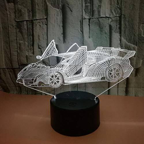 Only 1 Piece Creative Advertising Creative Gifts 3D Coupe Lamp Luminaria De Mesa Visible Light Touch Switch Desktop Colorful Nightlight