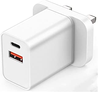 18W USB Fast Charge, QC 3.0 Wall Charger Adapter Compatible with iPhone 12/Pro/Max/Mini, iPhone SE/11/X XS, iPad Air/Pro, ...