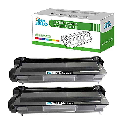 InkJello kompatibel Toner Patrone Ersatz für Brother DCP-8110DN DCP-8250DN HL-5440D HL-5450DN HL-5450DNT HL-5470DW HL-6180DW HL-6180DWT MFC-8510DN MFC-8520DN 8950DW 8950DWT TN3380 (Schwarz, 2-Pack)