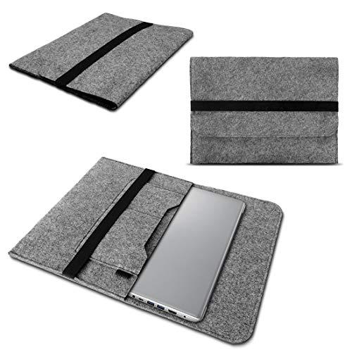 Schutzhülle kompatibel für Lenovo Thinkpad Yoga 370 Tasche Hülle Filz Sleeve Hülle Notebook Cover, Farben:Grau