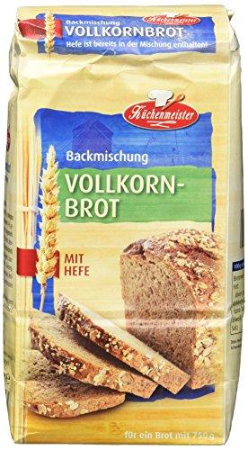 Bielmeier-Küchenmeister Brotbackmischung Vollkornbrot, 15er Pack (15 x 500 g)