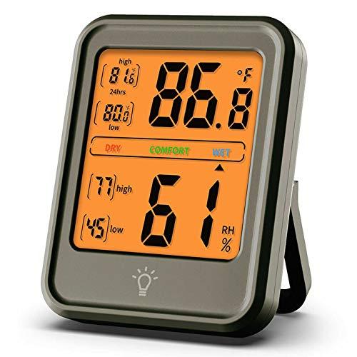 Haushaltstemperatur- und Luftfeuchtigkeitsmesser, industrielle Temperaturanzeige, großer Bildschirm, Innenwetterstation, Haushaltstemperatur und Luftfeuchtigkeitsmesser