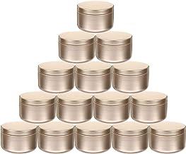 VICASKY 24 frascos de lata de doces para velas de lata, lata de metal vazia, caixa de armazenamento de metal, pote de erva...