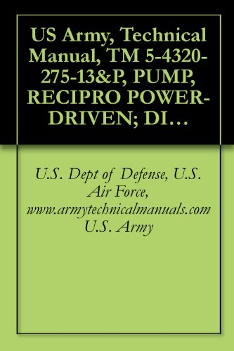 US Army, Technical Manual, TM 5-4320-275-13&P, PUMP, RECIPRO POWER-DRIVEN; DIAPHRAGM, GASOLINE ENGINE DRIVEN, WHEEL MTD, (PEA BARNES MODEL US40CDG), (NSN ... manauals, special forces (English Edition)