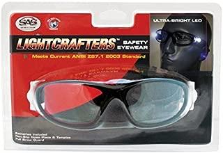 SAS Safety 5420-30 LED Inspectors Readers Safety Glasses, Black Frame, 3.0 Magnification Lens by SAS Safety