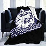 Uconn Huskies Fleece Blanket Plush Bed Throw for Couch Or Bed Warm Throw Blanket All Season Sofa Blankets 60'X50'