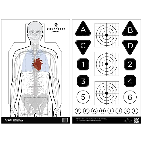 Fieldcraft Survival Double Sided Training Target 100 Pack
