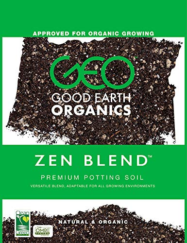 Good Earth Organics, Zen Blend Premium Potting Soil, Organic All Purpose Seed Starter Soil for Cannabis, Tomatoes and Many Other Seedlings, Seeds and Starts, 9 Quarts